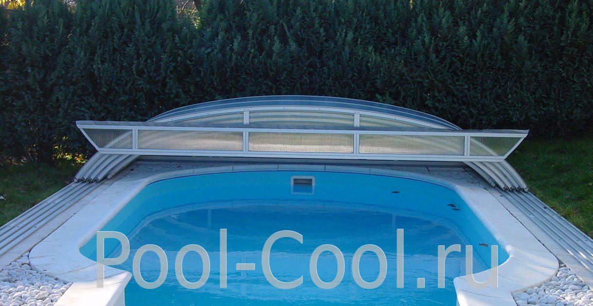 Как сделать сдвижной павильон для бассейна